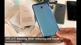 HTC U11 Amazing Silver Unboxing and Hands on