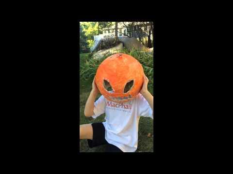 Plaster Pumpkinhead Halloween Mask