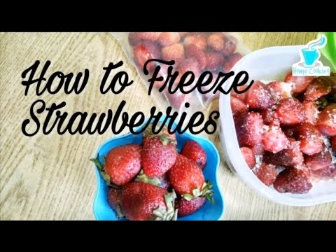 How to Freeze Strawberries 🍓🍓🍓~how to freeze fresh strawberries whole and sliced