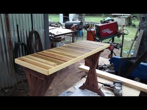 Reclaimed wood bench/side table