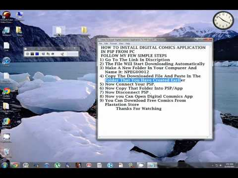 How to intall digital comic reader psp (any country)