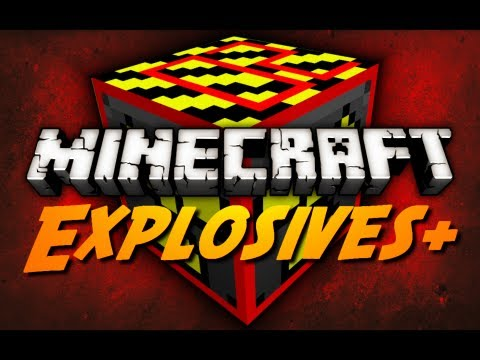 Minecraft Mod Review: EXPLOSIVES+ - Pt. 3 (Napalm & Hydrogen Bomb, TNT Rain, BiomeBuster)