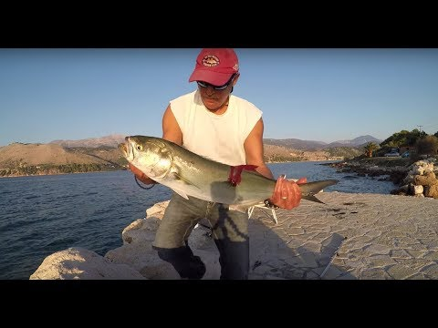 Fishing...best of 2017 shore fishing 1 fishing greece