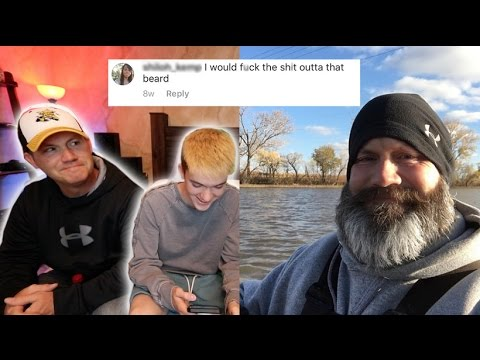 READING MY DAD'S INSTAGRAM COMMENTS!