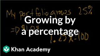 Growing By A Percentage Linear Equations Algebra I Khan Academy mp3