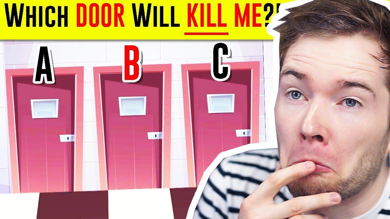 Solve the RIDDLE, Survive The KILLER DOOR!