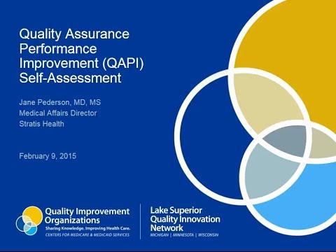 Quality Assurance Performance Improvement (QAPI) Self-Assessment