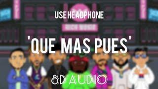 Que Mas Pues (Remix)8D || Sech ft. Justin Quiles x Maluma x Nicky Jam x Farruko || Echo sound