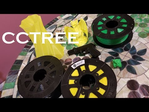 CCTREE PLA 3D Printer Filament unboxing and review.  Best cheap Filament?