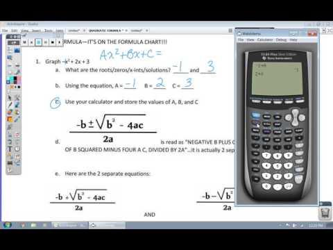 How to Solve the Quadratic Formula With a Calculator - NO WORK