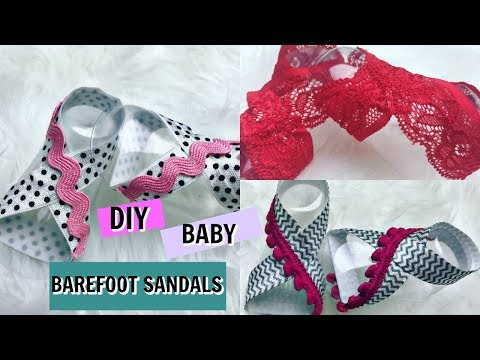 DIY NO SEW BABY BAREFOOT SANDALS