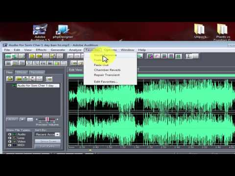 How to remove vocal in  Adobe Audition 1.5