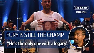 """""""The only person who has history, legacy, is Tyson Fury."""" David Haye on Fury, Wilder and Joshua"""