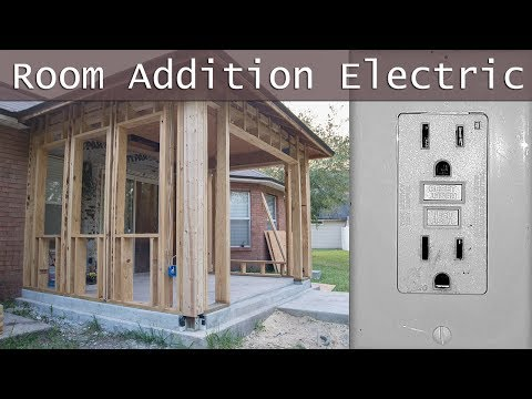 How To Run Wire in New Addition, Rough-In Electrical Vid #6
