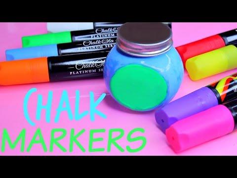 Liquid Chalk! Is it a Chalk or Marker? IT'S BOTH! CHALKOLA! CHALK MARKERS!