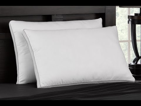 MEMORY FIBER Pillow with Hypoallergenic 100% Cotton Mesh Gusset Shell- For All Sleep Type (LONG)