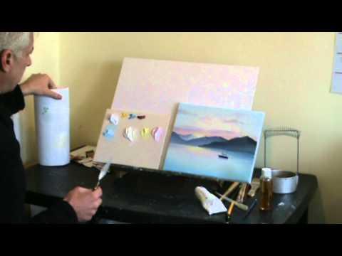 Live Online Art Classes Webinar - Oil Painting Sunset Pt1