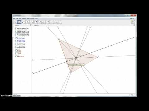Angle Bisectors of a Triangle (Geogebra)