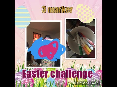 3 marker challenge 😱 {Easter edition }~BeautybyDelores