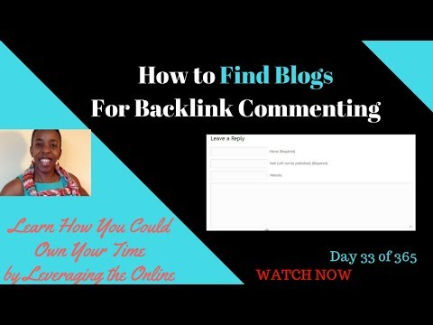 How to find blogs for backlink commenting 2017 | How to find blogs to comment on for your website