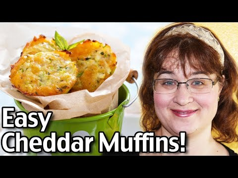 Easy Cheddar Muffins Recipe! How To Make Cheddar Cheese Muffins