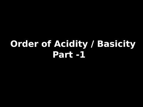 How to decide the Relative Strength of Acids and Bases ? - Part 1