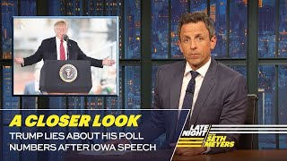 Trump Lies About His Poll Numbers After Iowa Speech: A Closer Look