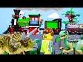 LEGO Jurassic World STOP MOTION LEGO Jurassic World Park Visit Triceratops Attack Billy Bricks