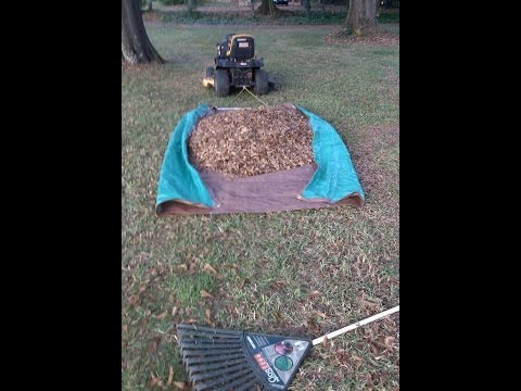 Homemade Leaf Tarp for Lawn Tractor