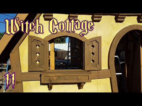 Making Window Shutters & Flower Boxes - Witch Cottage Facade