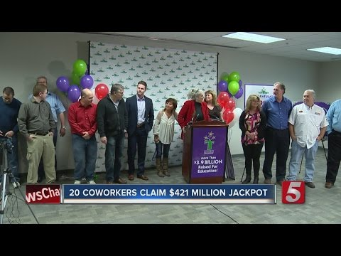 20 Tennessee Co-Workers Claim $421M Jackpot