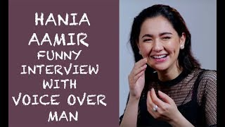 Hania Aamir Funny interview with Voice Over Man