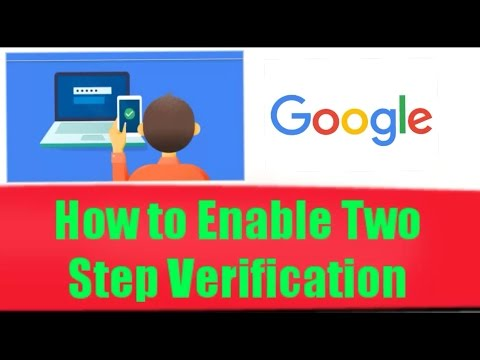 How to set two step verification in Google account.