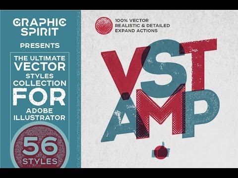 VSTAMP — Vector Stamp Effects Styles fo Adobe Illustrator