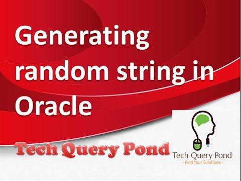 Generating random string in Oracle