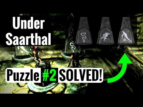 'Under Saarthal' Pillar Puzzle #2 - Skyrim Remastered