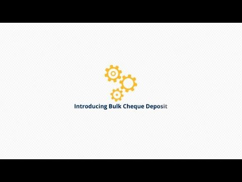Bulk Cheque Deposit إيداع الشيكات بالجملة