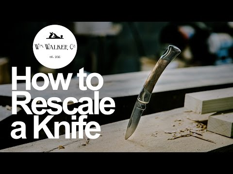 How to Rescale a Knife - The Buck Squire with Ambrosia Maple