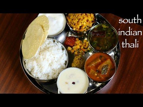 south indian thali recipe   veg south indian lunch menu ideas