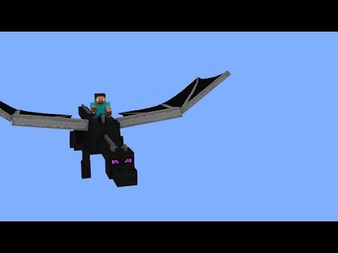RIDING THE ENDER DRAGON IN MINECRAFT