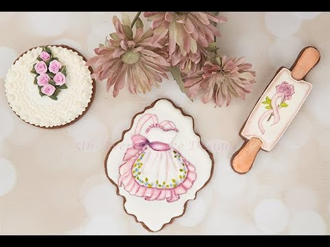 Decorate My Love for Baking Cookies:  Bake for the Cure Cookies 🕊️🌸 🌹