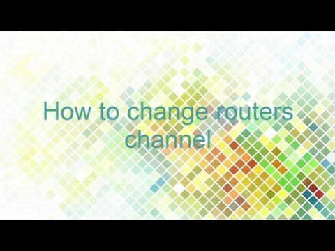 How to change router channel