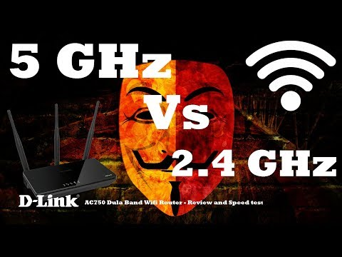 Dlink - 5GHz Wifi Router - Review | 2.4 GHz Vs 5GHz Wifi Test | N Vs AC Test