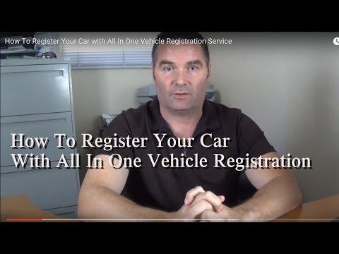 How To Register Your Car with All In One Vehicle Registration Service