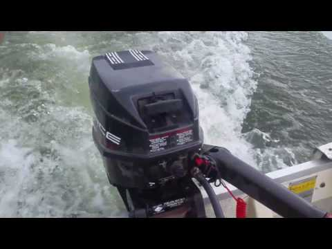 12' BOAT WITH FORCE 9.9HP MERCURY MARINER OUTBOARD MOTOR BOGGING
