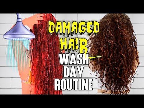 My Wash Day Routine for Damaged Hair | AlexandrasGirlyTalk