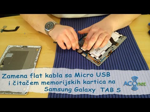 Menjanje Micro USB flat kabla na Samsung Galaxy Tab S