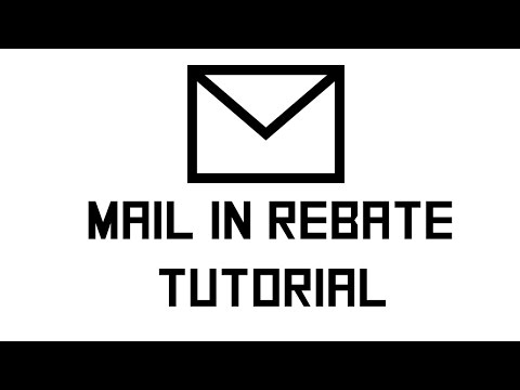 How to do mail in rebates?