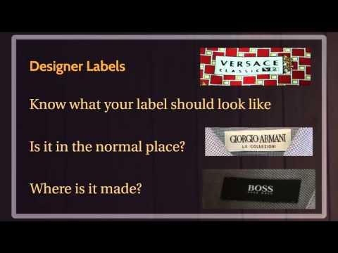 How to Spot FAKE Designer Clothes
