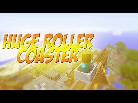 Minecraft 360 - Biggest and Best Roller Coaster !? (Minecarts)